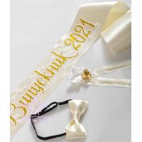 Лента бежевого цвета с золотым нанесением рельефная