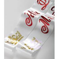 Белого цвета ленты Мисс золотым и красным нанесением