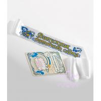 Белые с синим ленты выпускник детского сада рельефные