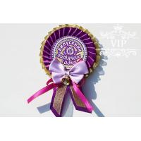 Медаль выпускник детского сада фиолетовая с бантиком