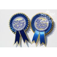 Медаль вчителю синя