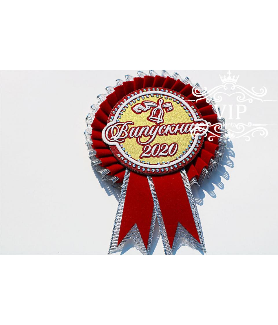 Медаль выпускник бордовая с серебром