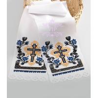 Хрест поминальний синій