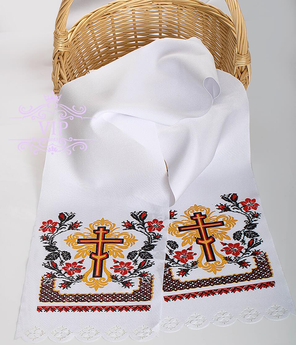 Крест поминальный красный