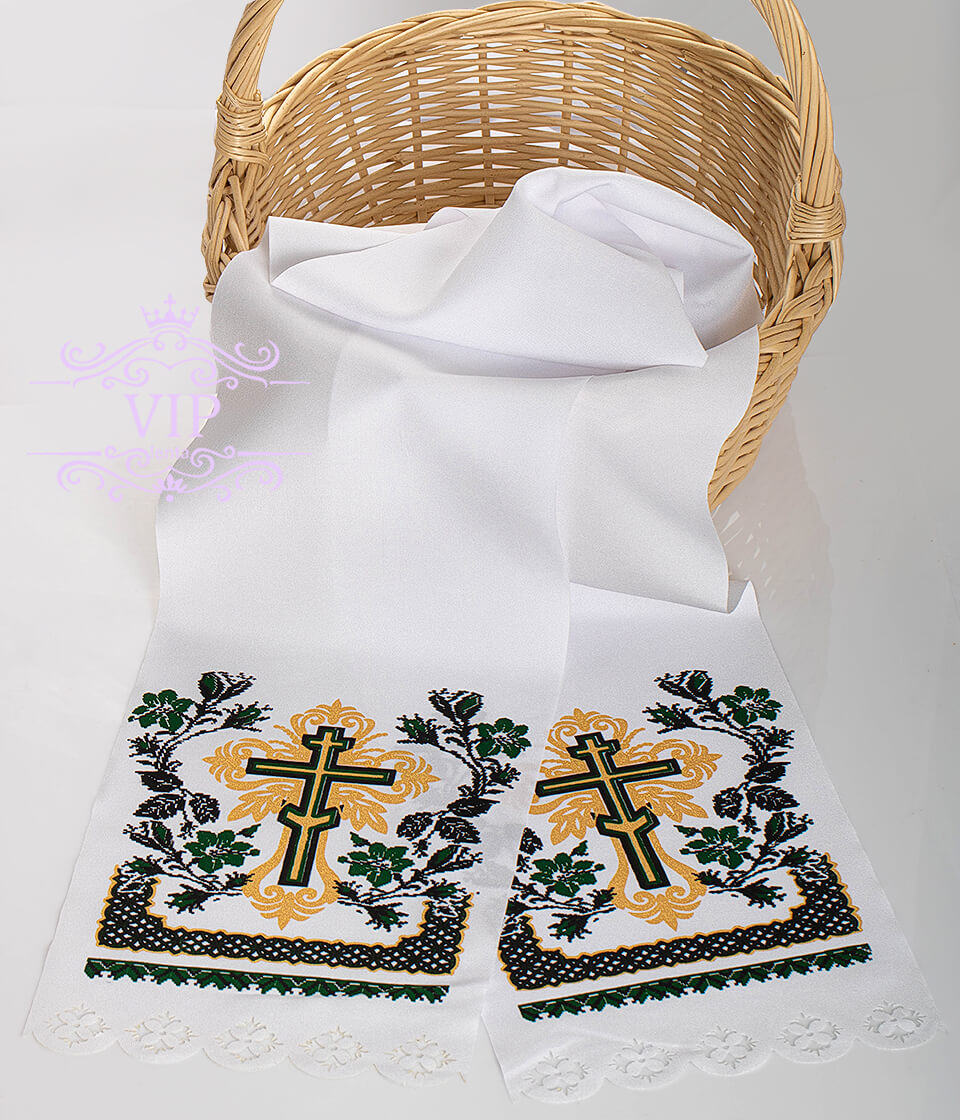 Крест поминальный зеленый
