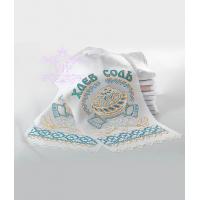 Синий со стразами рушник хлеб соль
